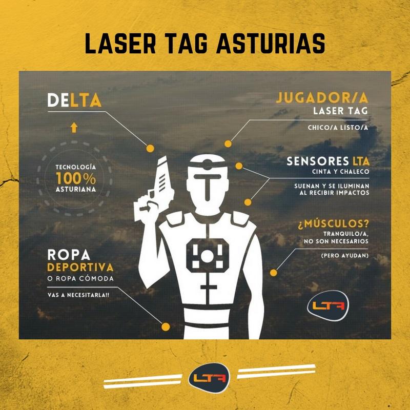 Equipación para jugar al Laser Tag